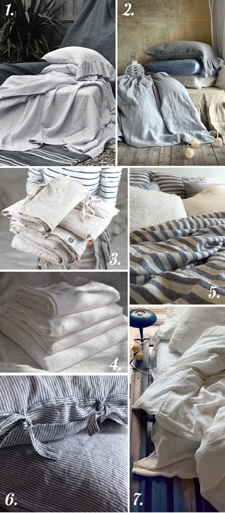 Handmade linen bedding, duvets and sheets on Etsy // Closet Case Files