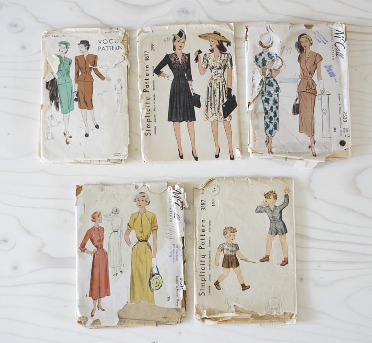 vintage 40's patterns from CLoset Case Files-2