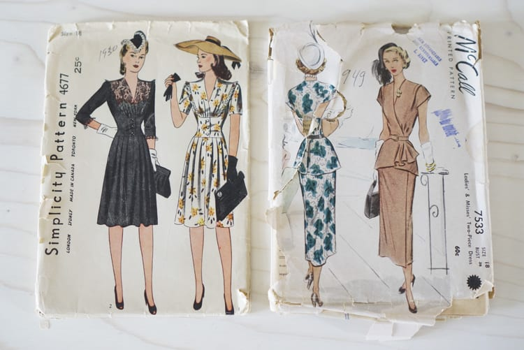 vintage 40's patterns from CLoset Case Files-4