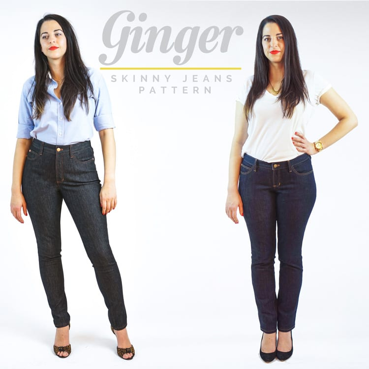 Ginger skinny jeans pattern by Closet Case Files