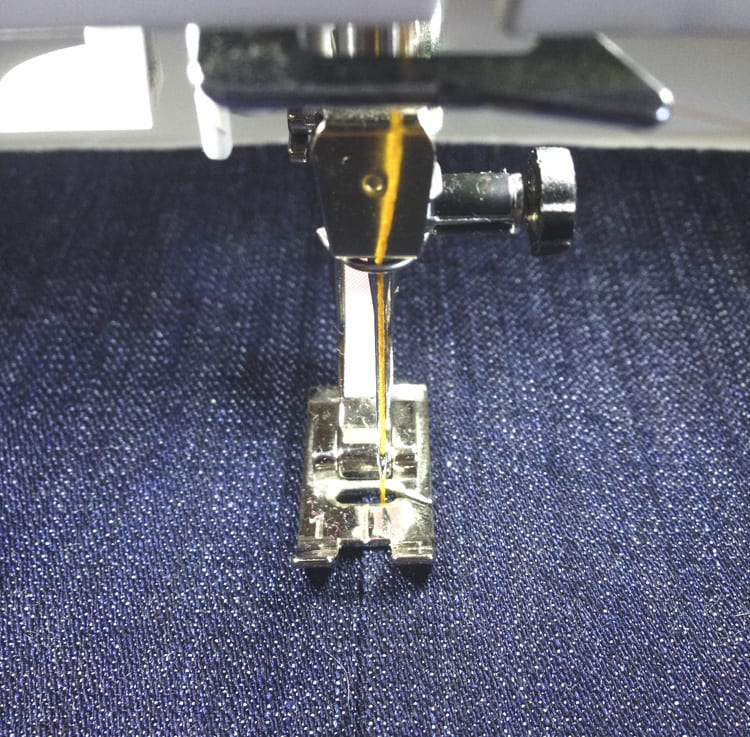 topstitching jeans