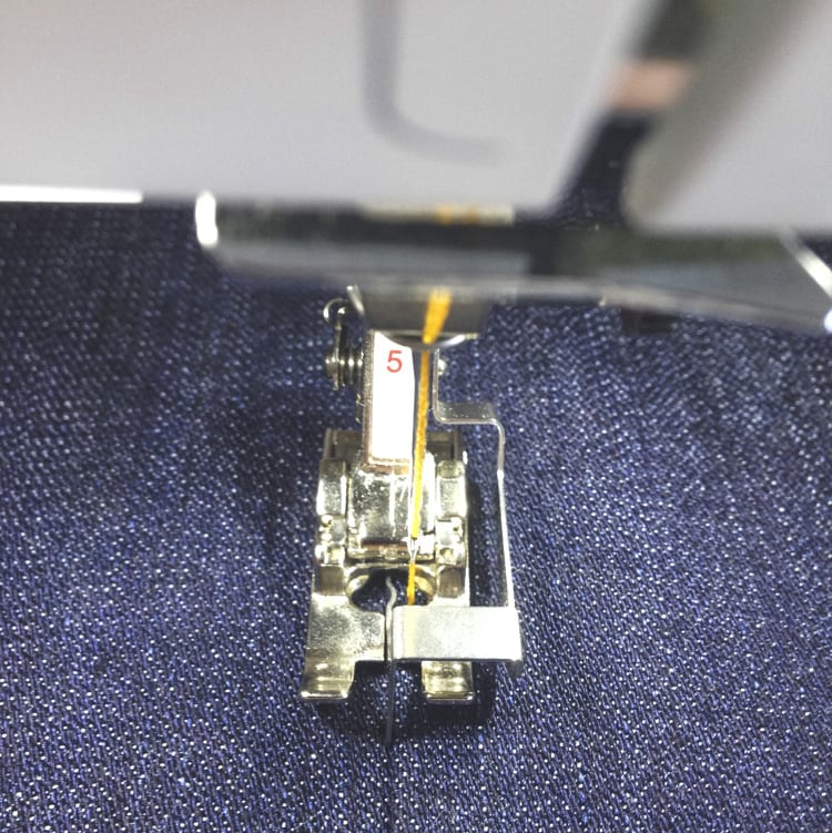 edge foot for topstitching jeans