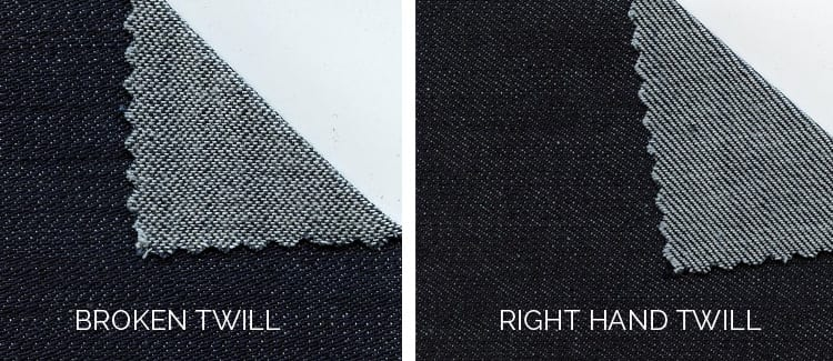 denim weave types-understanding twill