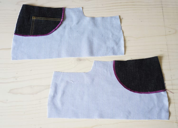 ginger skinny jeans pattern - assembling pockets-7
