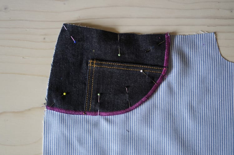 ginger skinny jeans pattern - assembling pockets-8
