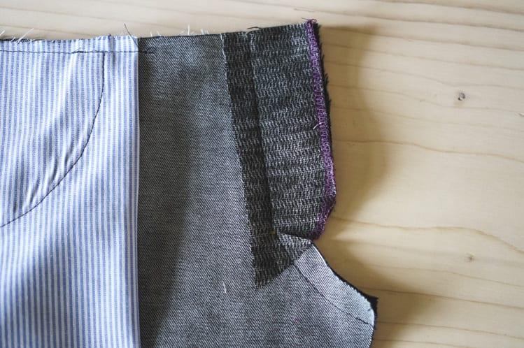 ginger skinny jeans pattern - installing fly front zipper-3