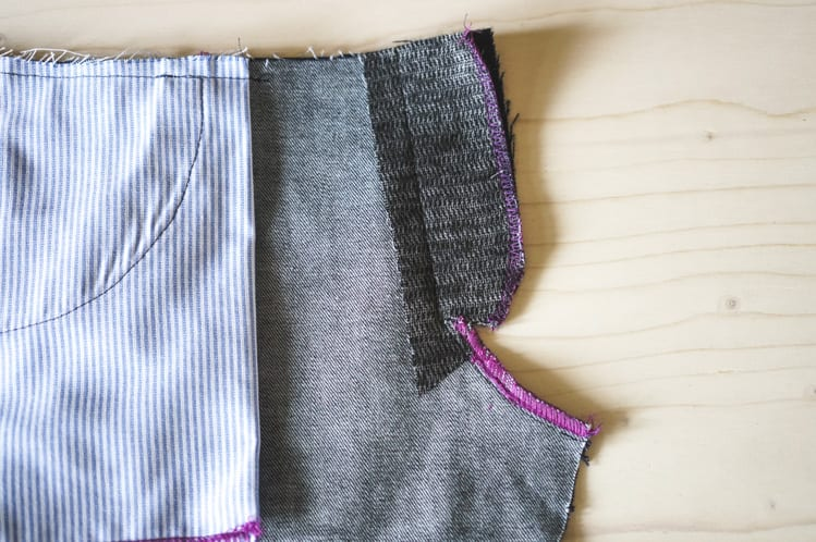 ginger skinny jeans pattern - installing fly front zipper-4