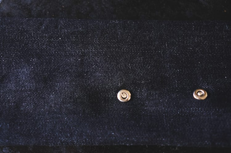 installing denim rivet