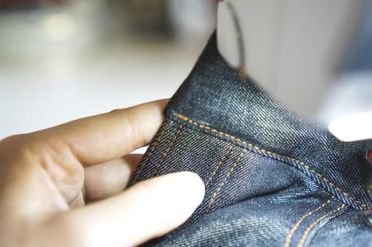 topstitching waistband