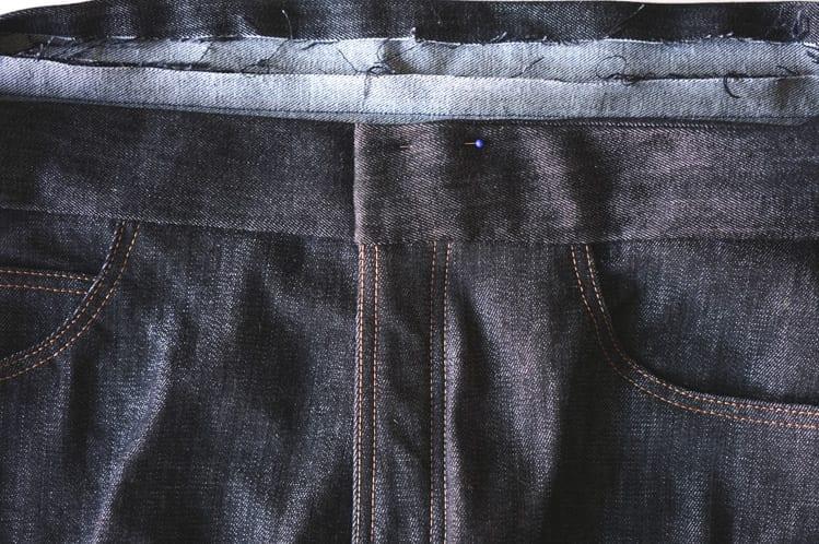 ginger skinny jeans pattern - installing waistband-8