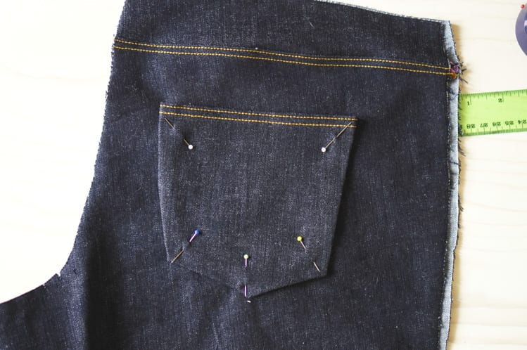 attaching back pockets