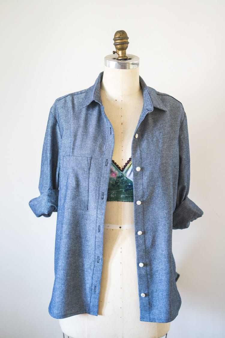 Closet Case Files - Grainline archer buttonup shirt