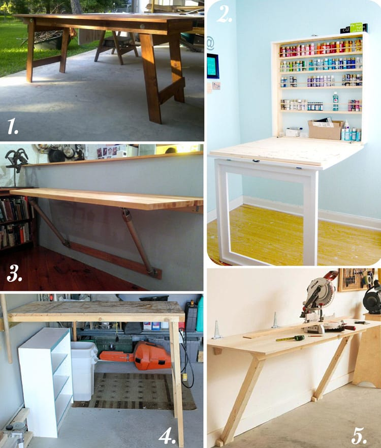 Diy cutting table ideas for your sewing studio closet for Fold up craft table