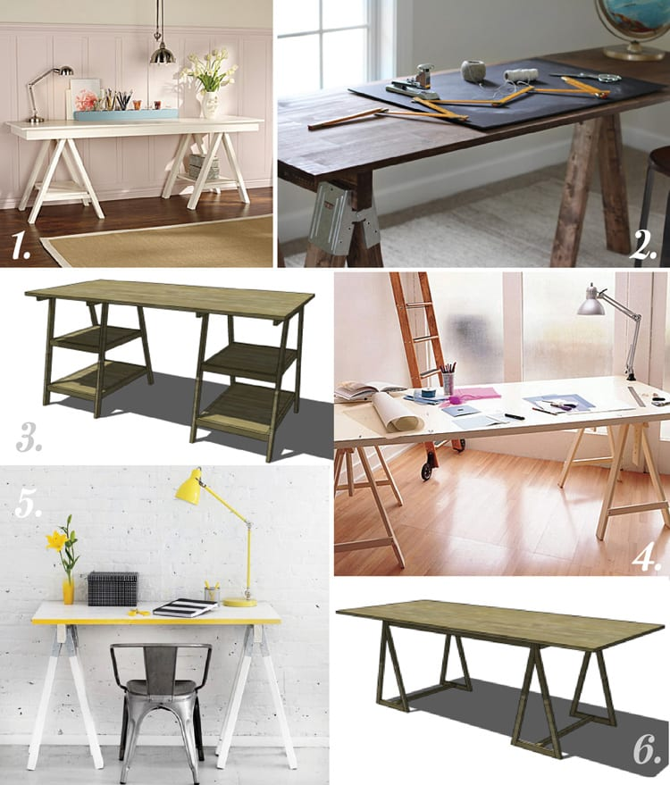 Attractive DIY Trestle And Sawhorse Tables For Crafting, Sewing And Cutting