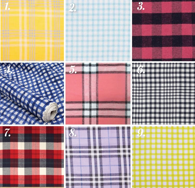 plaid and check fabric