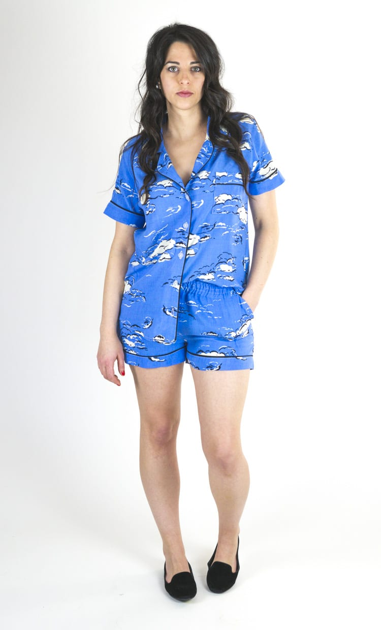 Carolyn pajamas - shorts set in rayon challis