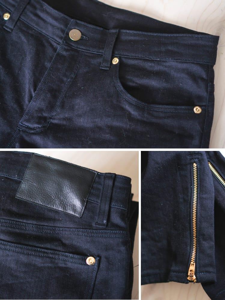 Ginger skinny Jeans pattern + ankle zipper