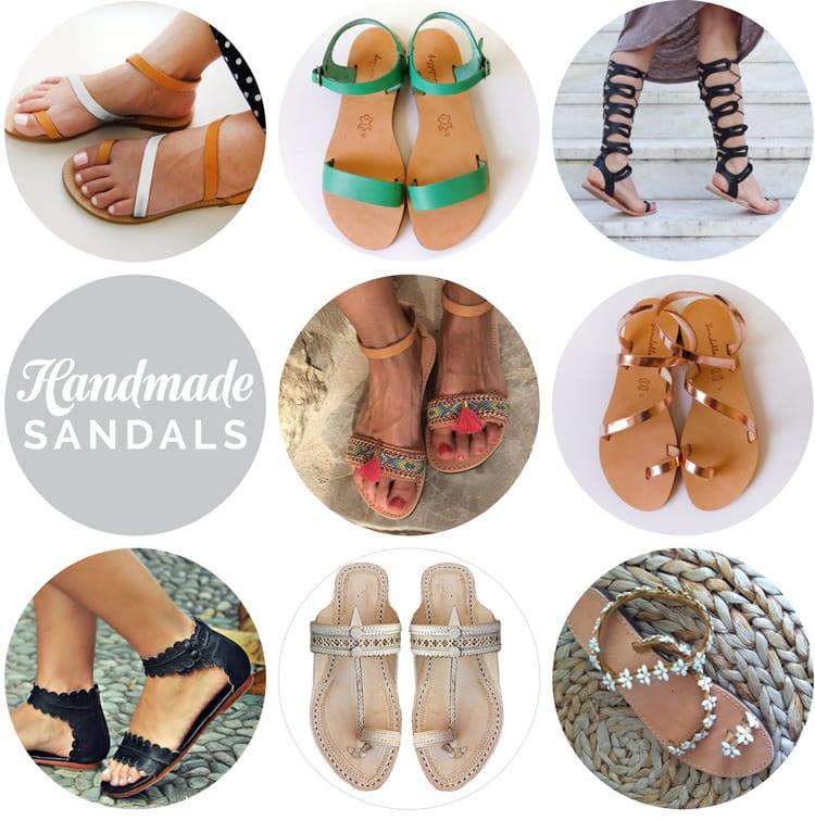 handmade leather Greek sandals