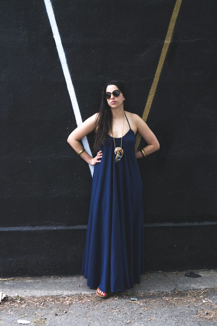 knit maxi dress DIY
