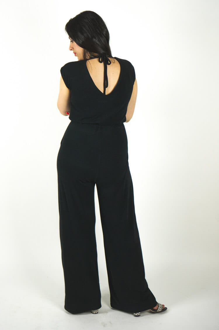 Sallie Jumpsuit and Maxi Dress sewing pattern // Kimono tee & wide legged pants variation // Closet Case Files // http://store.closetcasefiles.com