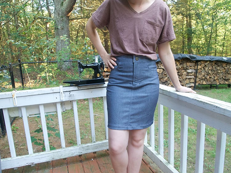 Hacking the Ginger pattern into a Jean skirt! // Hack by Blueprints for Sewing // Closet Case Files
