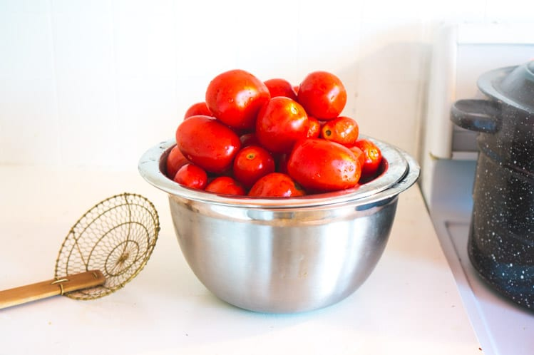Washing tomatoes// Canning tomatoes tutorial // Closet Case Files