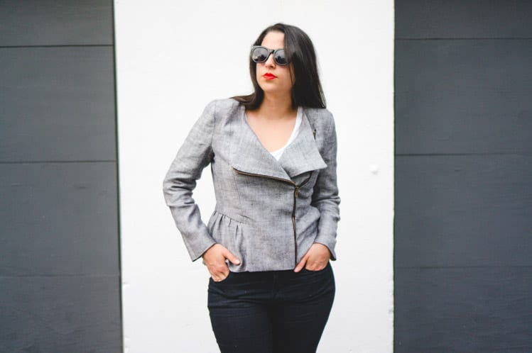 Linen motorcycle jacket // Moto Chic Jacket Pattern // Closet Case Files