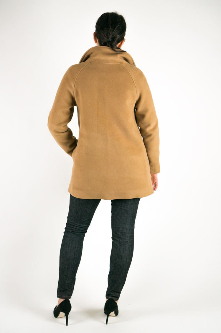 Clare Coat Pattern // Back view // Closet Case Files