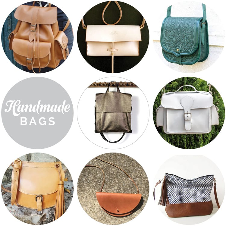 Handmade leather bags & purses on Etsy // Closet Case Files