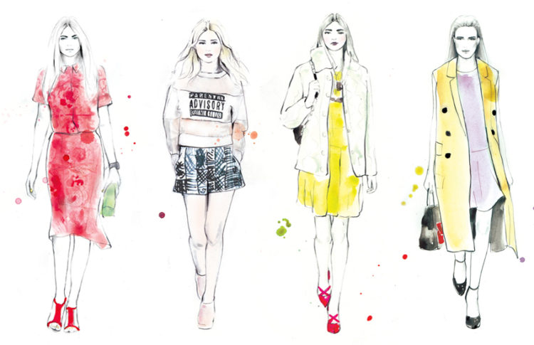 Fashion illustrations inspiration // Closet Case Files