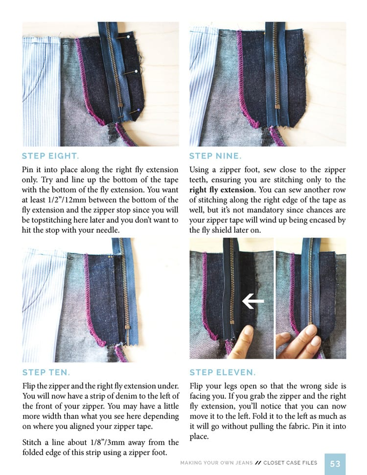 Installing a Fly Front Zipper // Sewing Your Own Jeans eBook // Closet Case Files