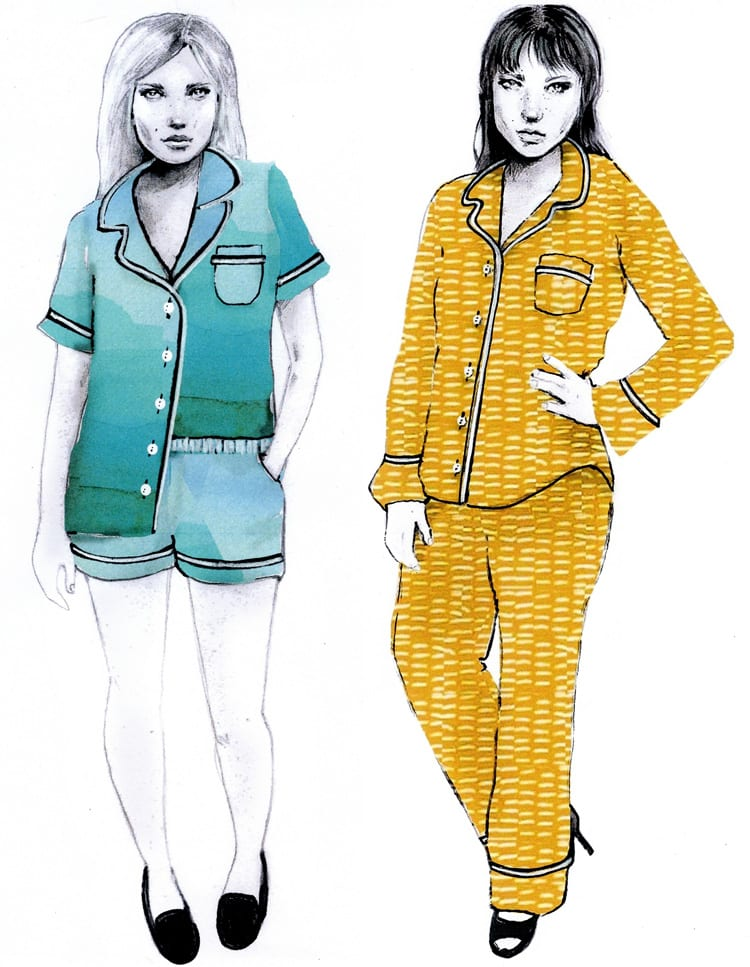 Fashion illustrations studies // Closet Case Files