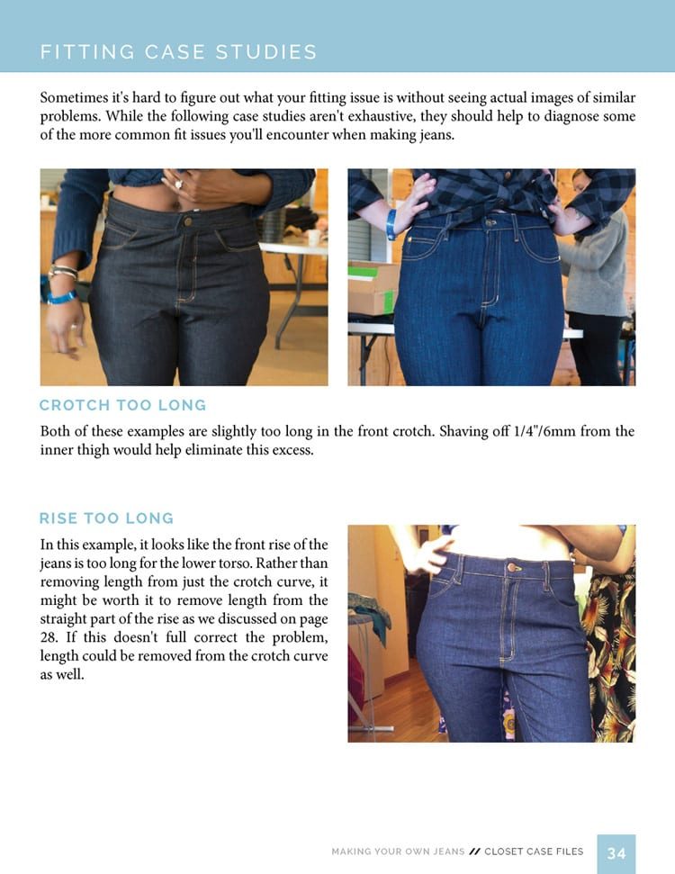 Fitting jeans & pants // Sewing Your Own Jeans eBook // Closet Case Files