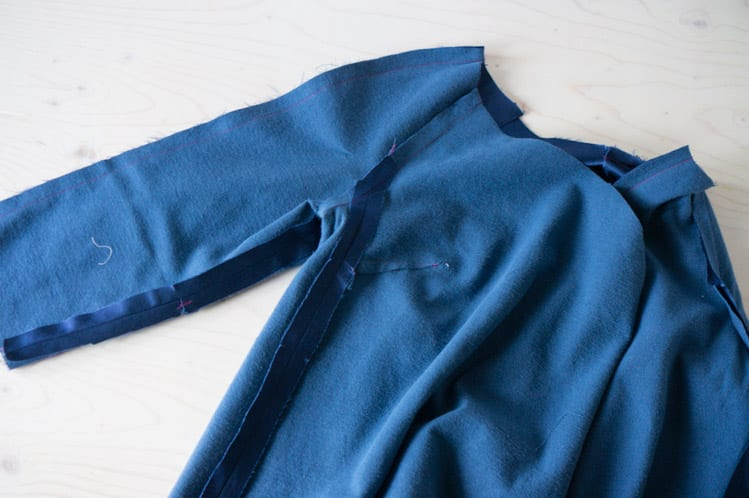 Clare Coat sewalong_Sewing coat lining and facing-13