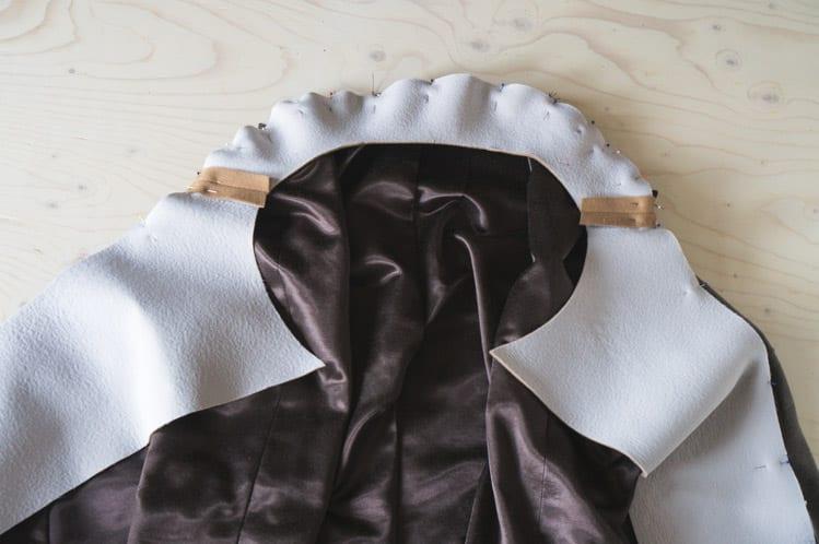 Clare Coat sewalong_Sewing coat lining and facing-29