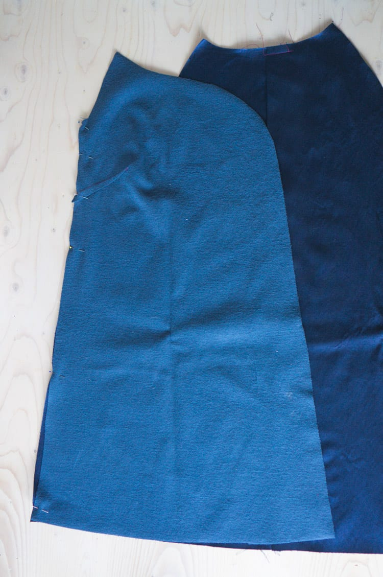 Clare Coat sewalong_Sewing coat lining and facing-8