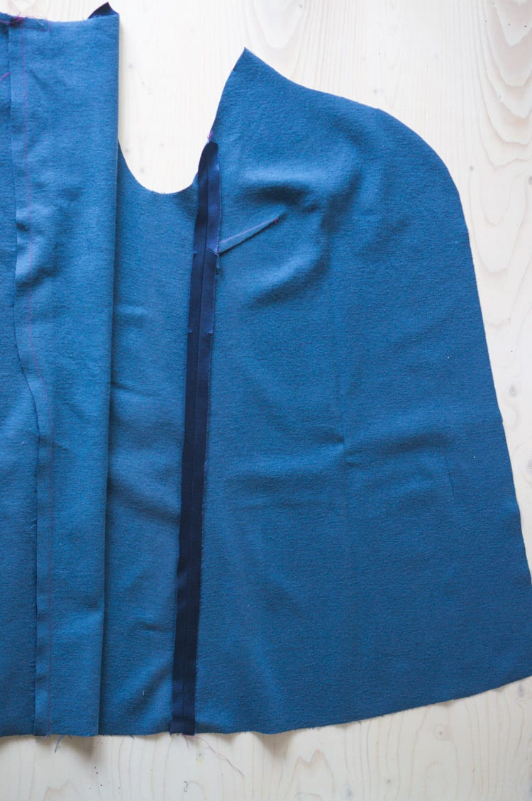 Clare Coat sewalong_Sewing coat lining and facing-9