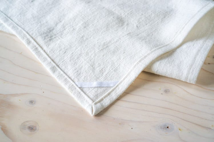 How to sew dish towels with mitered corners4