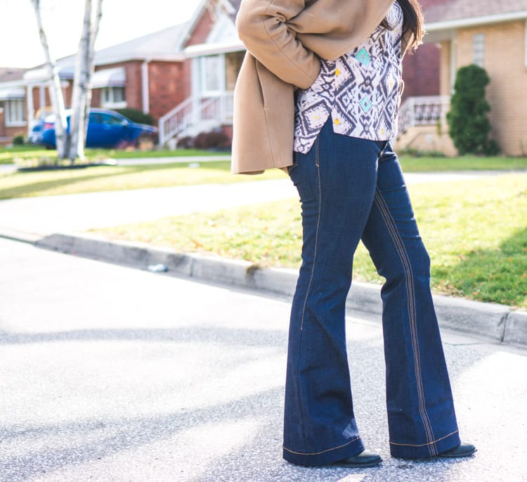 Flare bootcut jeans pattern4