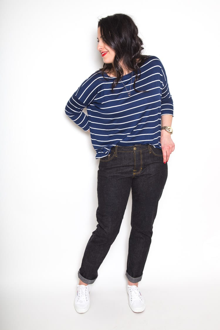 Morgan Boyfriend Jeans sewing pattern // Closet Case Files