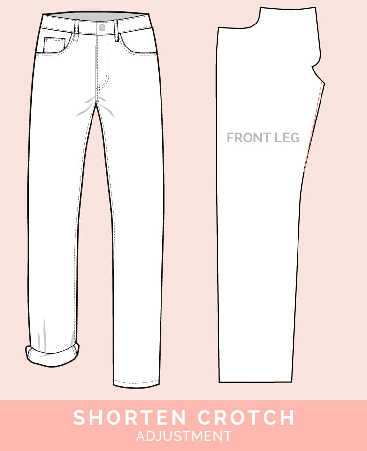 Shorten Crotch Adjustment // 12 common jeans and pants adjustments // Closet Case Files