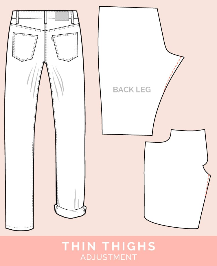 Thin Thigh Adjustment // 12 common jeans and pants adjustments // Closet Case Files