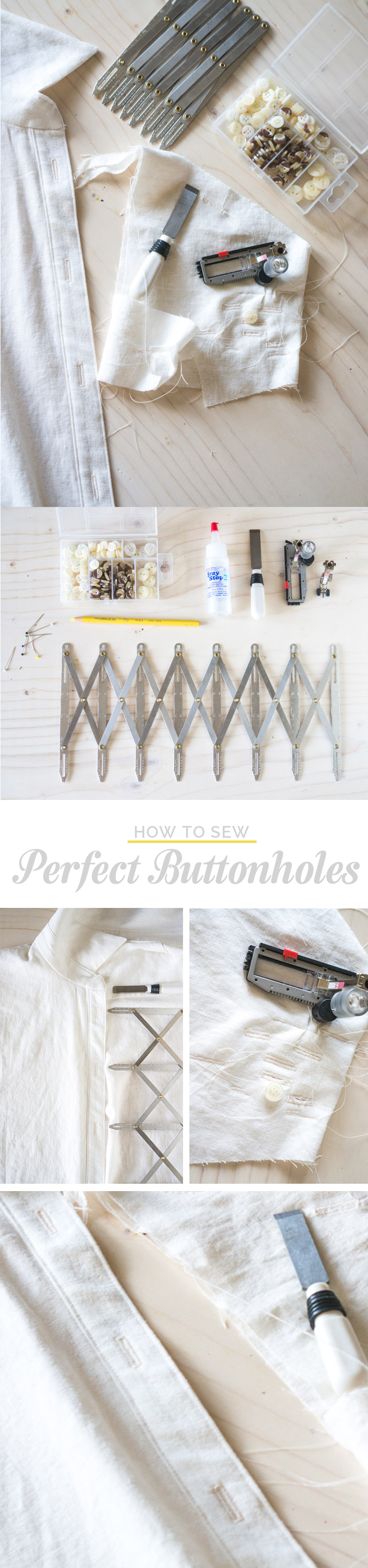 How to Sew Perfect Buttonholes // Closet Case Files