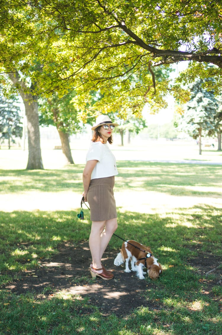 Linen Inari tee + deer and doe brume skirt-2