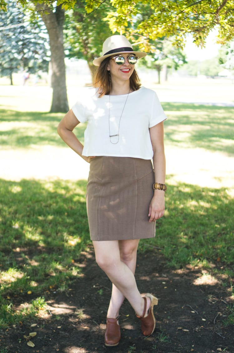 Linen Inari tee + deer and doe brume skirt-5