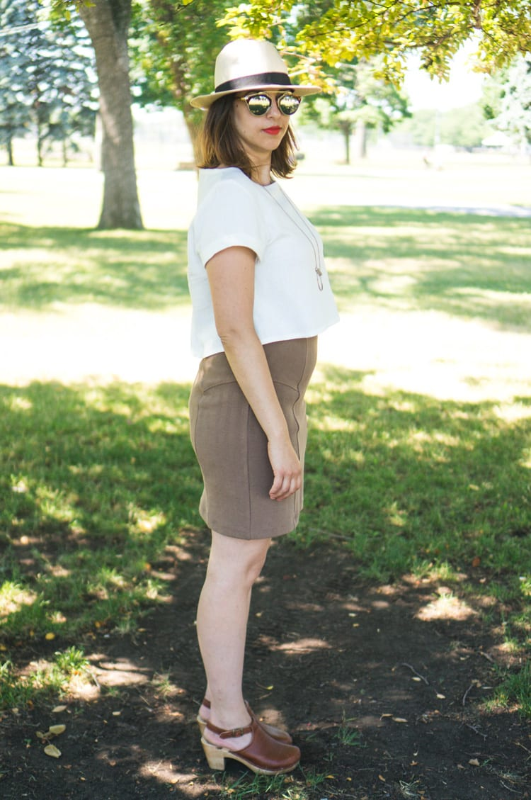 Linen Inari tee + deer and doe brume skirt-6