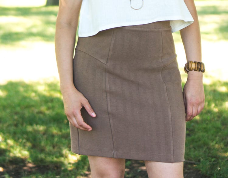 Linen Inari tee + deer and doe brume skirt-9