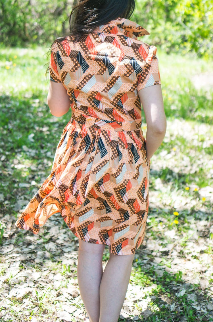 McCalls M6696 in African wax print-12
