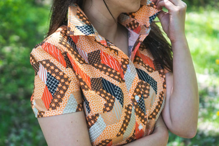 McCalls M6696 in African wax print-9