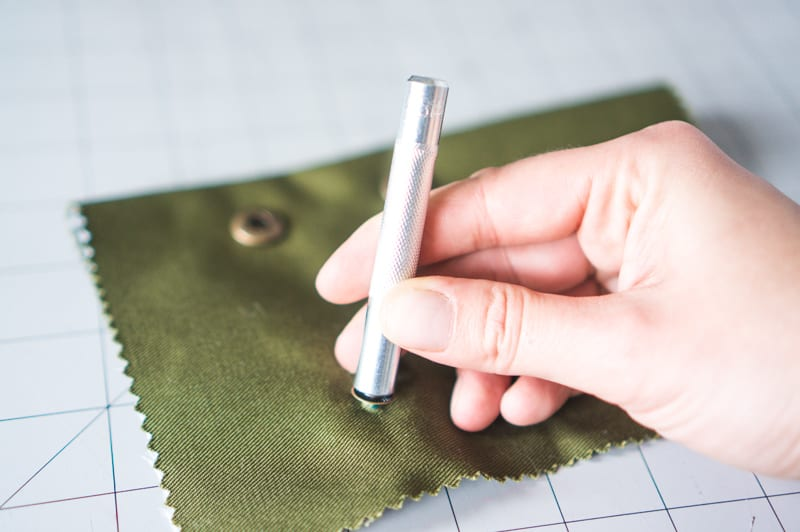 Installing spring and snap buttons // Closet Case Patterns